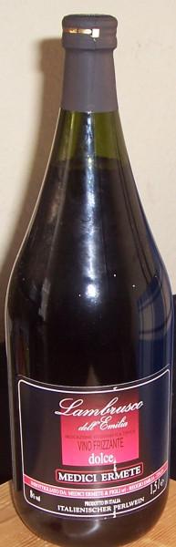 Lambrusco dell' Emilia Rosso Frizzante Medici Ermete 1,5 liter