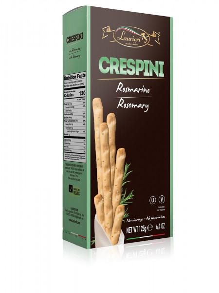 Crespini mit Rosmarin 125 g Laurieri Kurze grissini