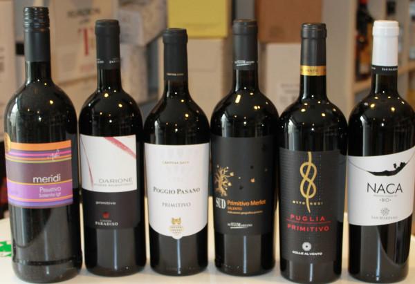 6er Probierpaket Primitivo bestehend aus 6 Sorten trockener Rotweine 6x0,75L