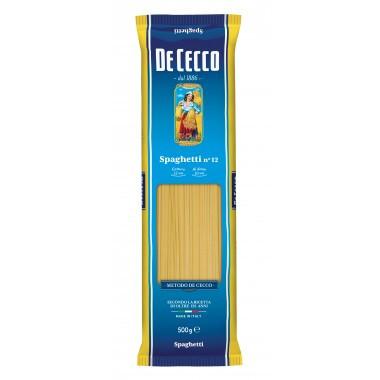 Spaghetti n° 12- 500.g. De cecco pasta aus italien