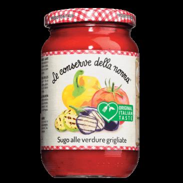 Le Conserve della Nonna Sugo alle Verdure, mit gegrilltem Gemüse 370 ml.