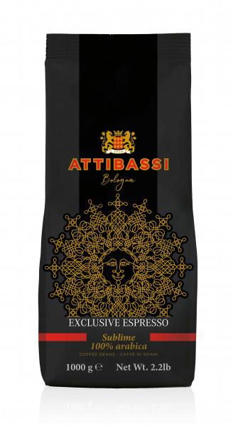 Espresso Bohnen Exlusive 100% Arabica (Attibassi) 1Kg