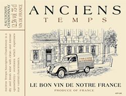 Anciens Temps Cabernet Sauvignon / Syrah Vin de Pays d'Oc 2019