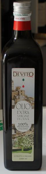 Olivenöl kaltgepresst aus Italien 1 Lit. Di Vito 100% italiano Abruzzen Mhd 10.2023