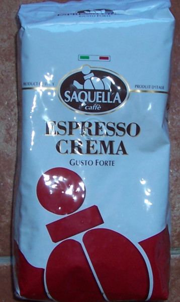 Saquella Espresso Crema Bar Gusto Forte ganze Bohnen 1KG