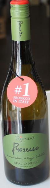 Riondo Spago Nero Prosecco Green Label Vino Frizzante Doc-Schraubverschluss