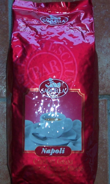 Saquella Espresso Napoli Kaffee ganze Bohnen 1KG