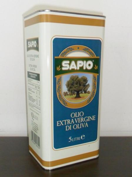 Olivenöl Extra Vergine 5,0 L Kanister Sapio-MHD.11.2021
