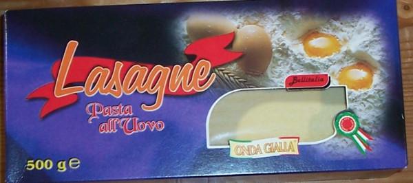Lasagne 500.g Bellitalia zum vorkochen