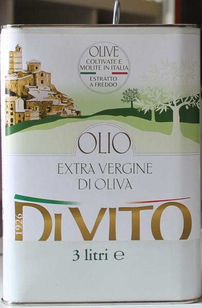 Olivenöl Extravergine aus Italien 3 Liter.Di Vito 100% italiano Mhd 2.2022