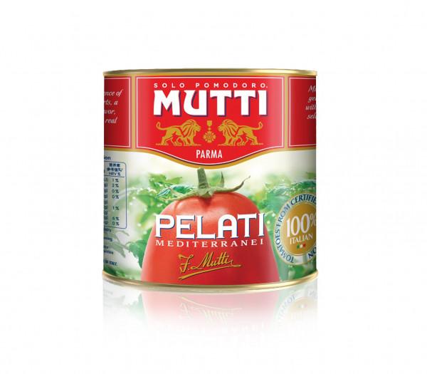 Mutti Pelati Geschälte Tomaten 2500 g.